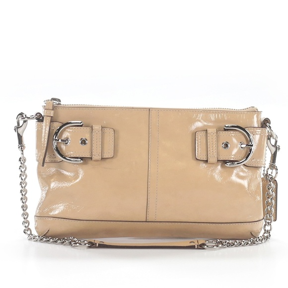 Coach Handbags - Cream Patent Leather Coach Bag